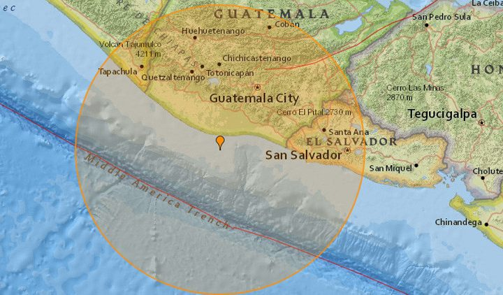 Temblor de magnitud 6,8 sacude a Guatemala
