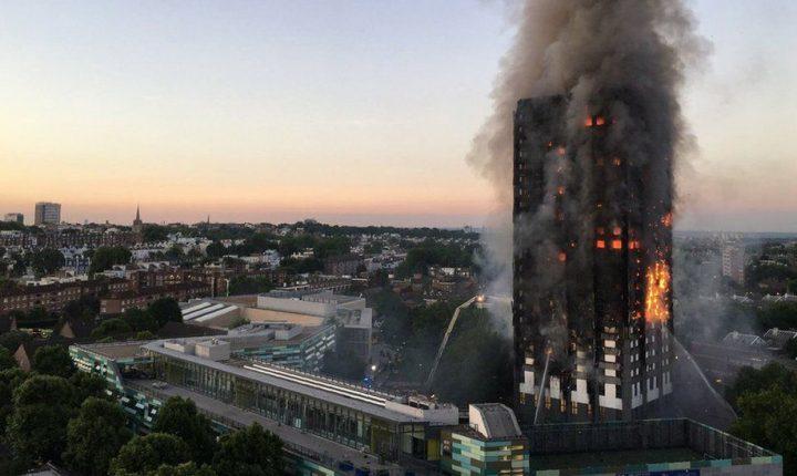 Gran incendio en edificio residencial Grenfell Tower en Londres