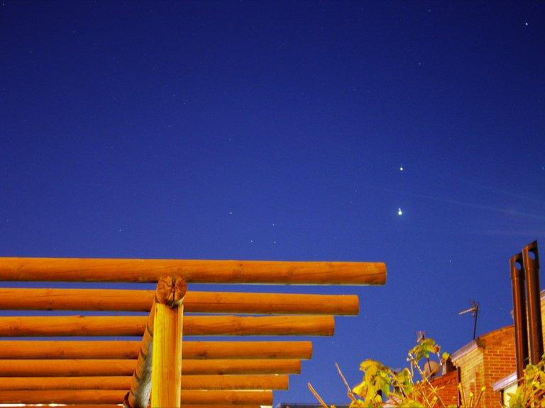 Júpiter y Saturno acercándose a su conjunción total. Imagen vista desde Colombia. Foto: Archivo Particular.