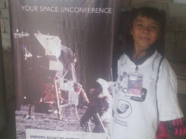 Adhara, durante su participación en SpaceUp México, evento sobre el espacio. Foto: Archivo particular